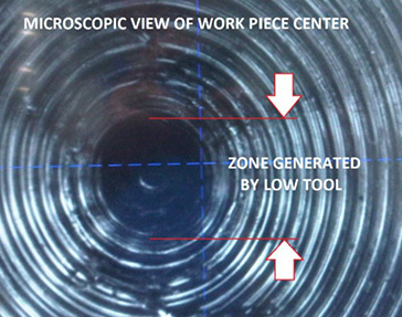horizontal optical tool setter workpiece center view